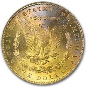 1887 Morgan Dollar MS-66 NGC (Sunset Toning)