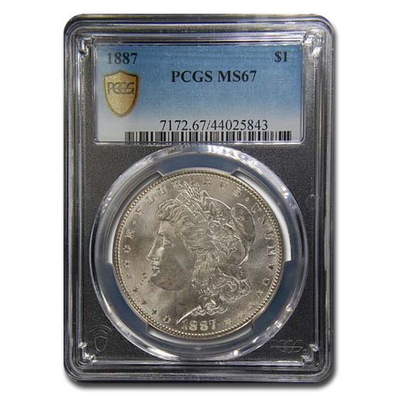 1887 Morgan Dollar MS-67 PCGS