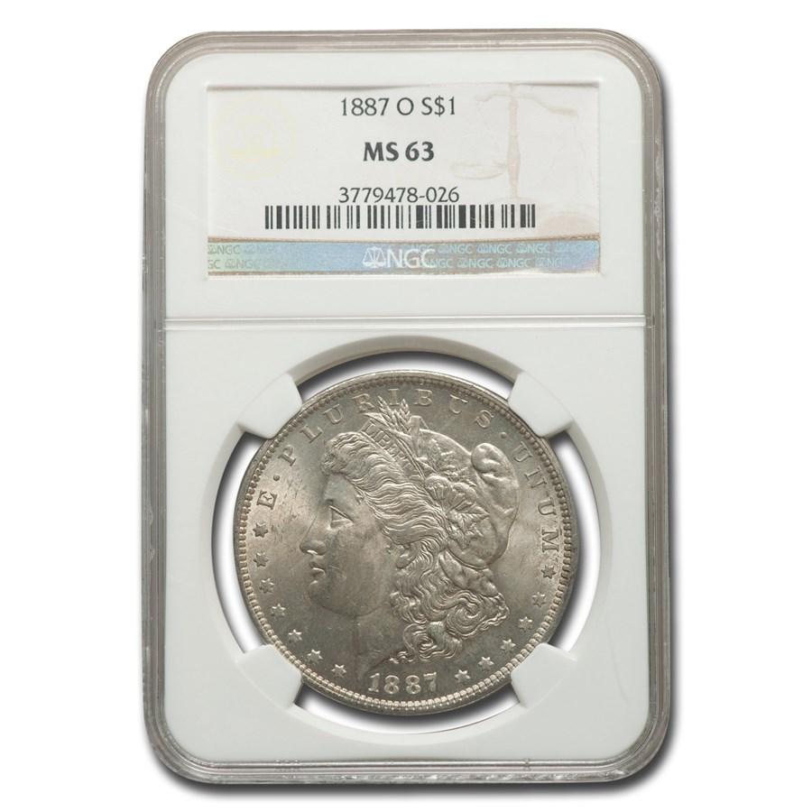 1887-O Morgan Dollar MS-63 NGC