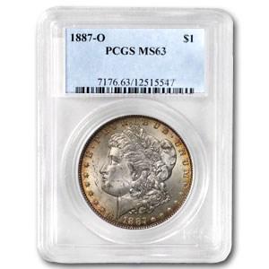 1887-O Morgan Dollar MS-63 PCGS (Attractive Rim Toning)
