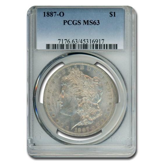 1887-O Morgan Dollar MS-63 PCGS