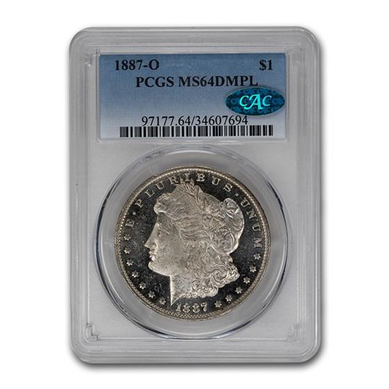 1887-O Morgan Dollar MS-64 DMPL PCGS CAC