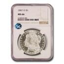 1887-O Morgan Dollar MS-66 NGC