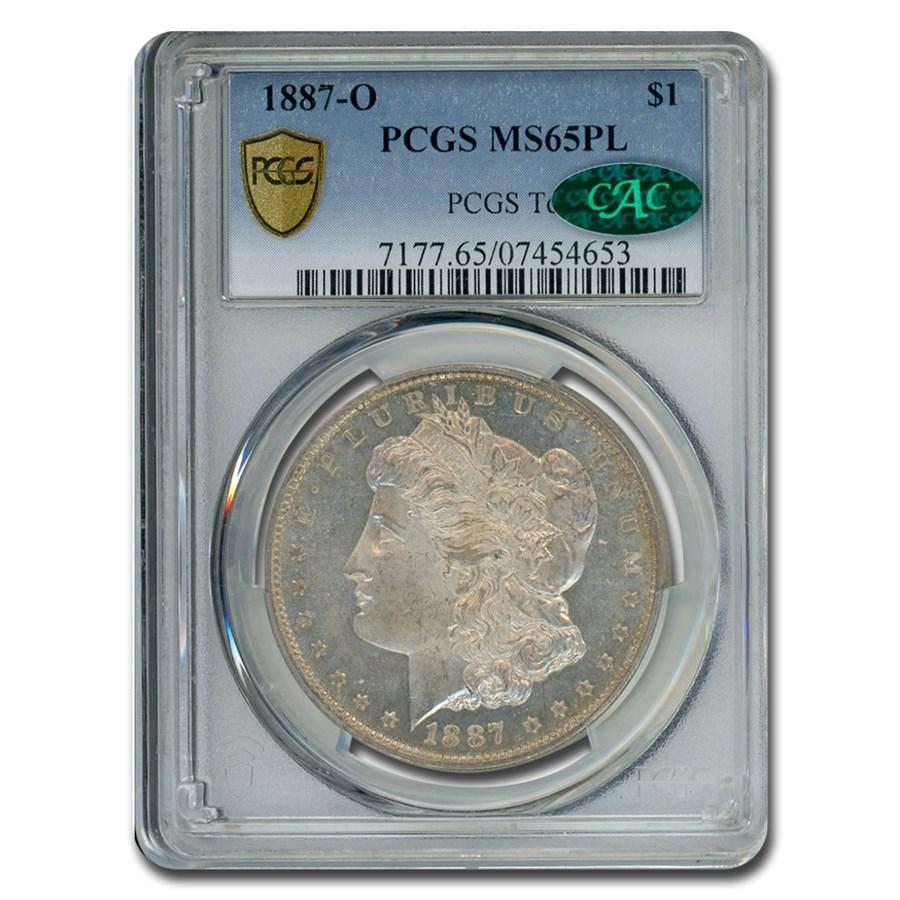 1887-O Morgan Dollar PL MS-65 PCGS CAC