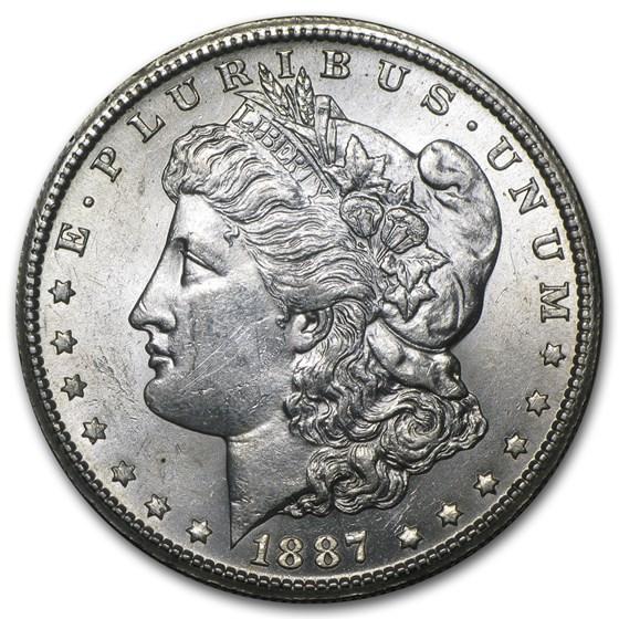 1887-S Morgan Dollar AU-58