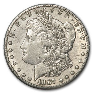 1887-S Morgan Dollar AU Details (Damaged)