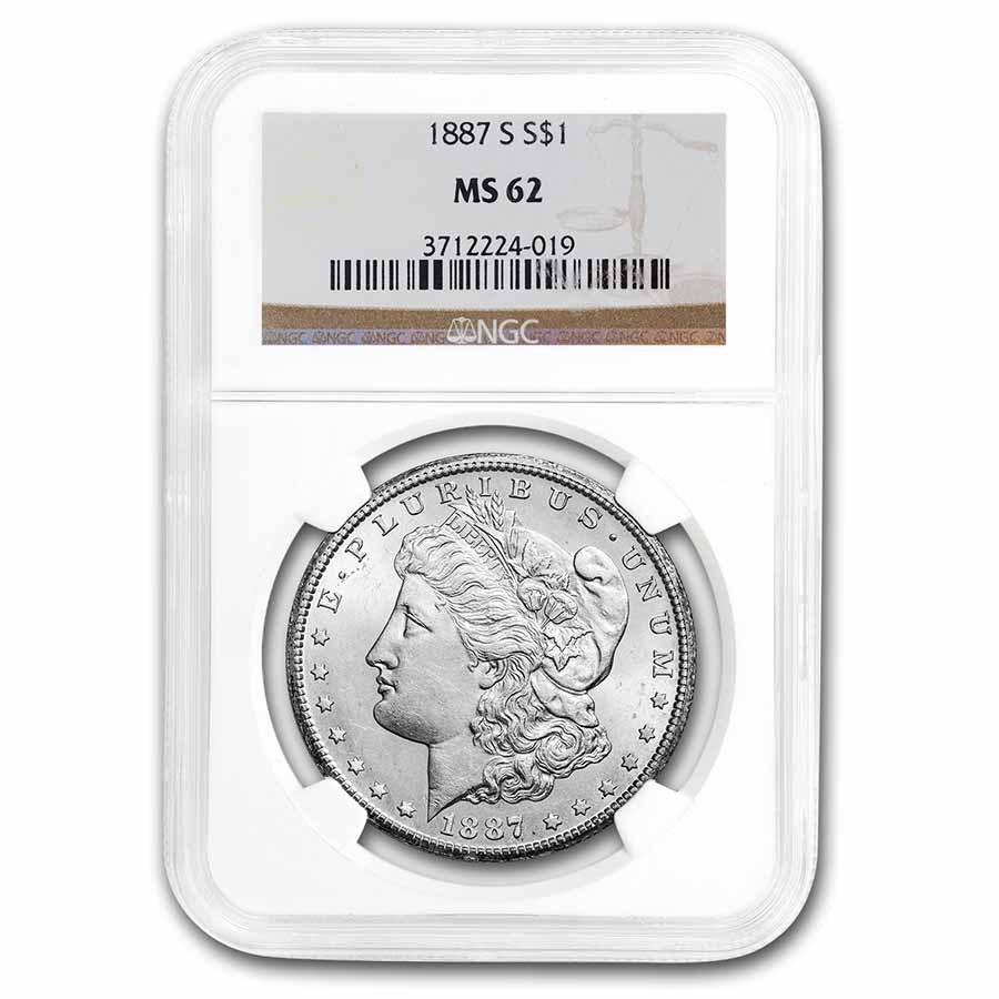 1887-S Morgan Dollar MS-62 NGC