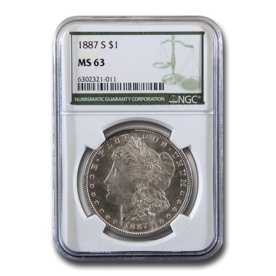 1887-S Morgan Dollar MS-63 NGC