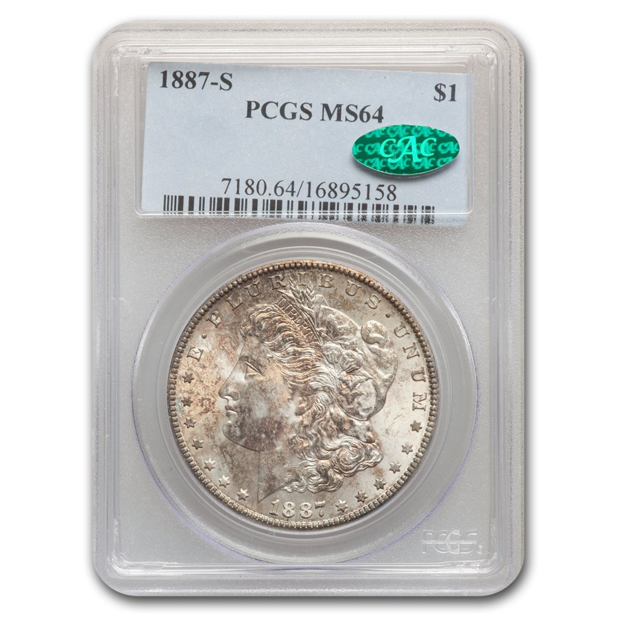 1887-S Morgan Dollar MS-64 PCGS CAC