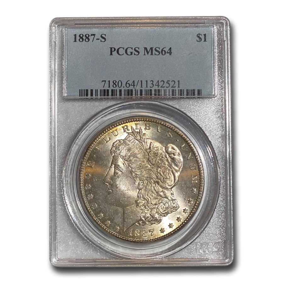1887-S Morgan Dollar MS-64 PCGS