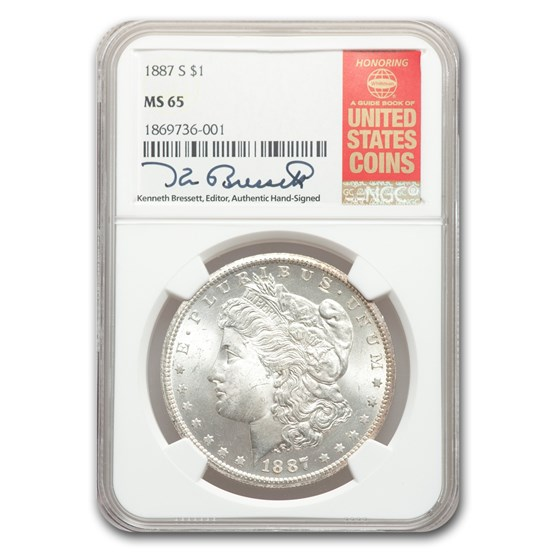 1887-S Morgan Dollar MS-65 NGC