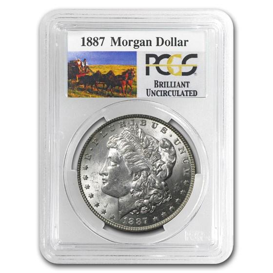1887 Stage Coach Morgan Dollar BU PCGS