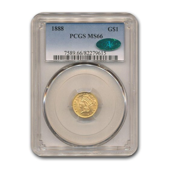 1888 $1 Indian Head Gold MS-66 PCGS CAC