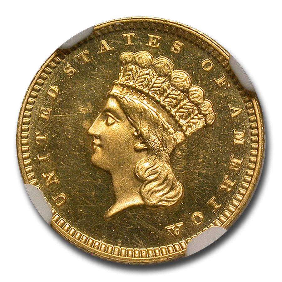 1888 $1 Indian Head Gold PF-64+ UCAM NGC