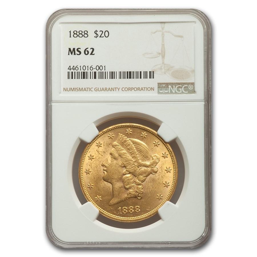 1888 $20 Liberty Gold Double Eagle MS-62 NGC