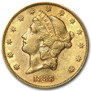 1888 $20 Liberty Gold Double Eagle XF