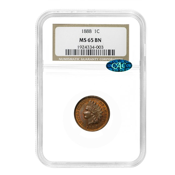 1888 Indian Head Cent MS-65 NGC (Brown)