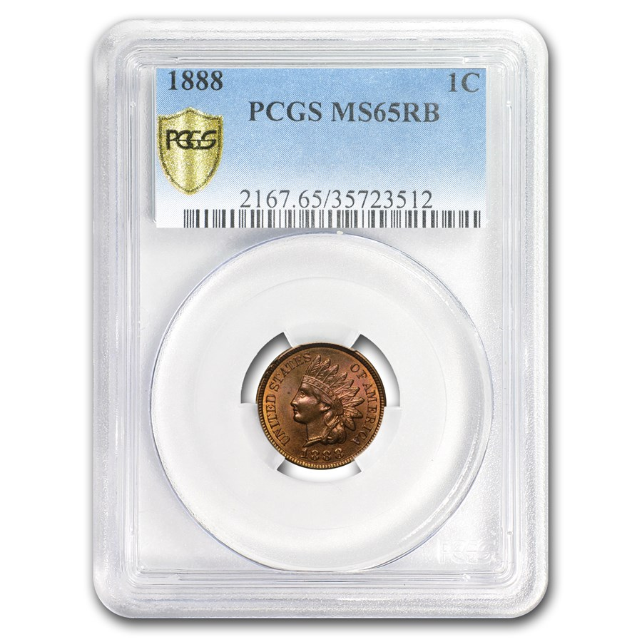 1888 Indian Head Cent MS-65 PCGS (Red/Brown)