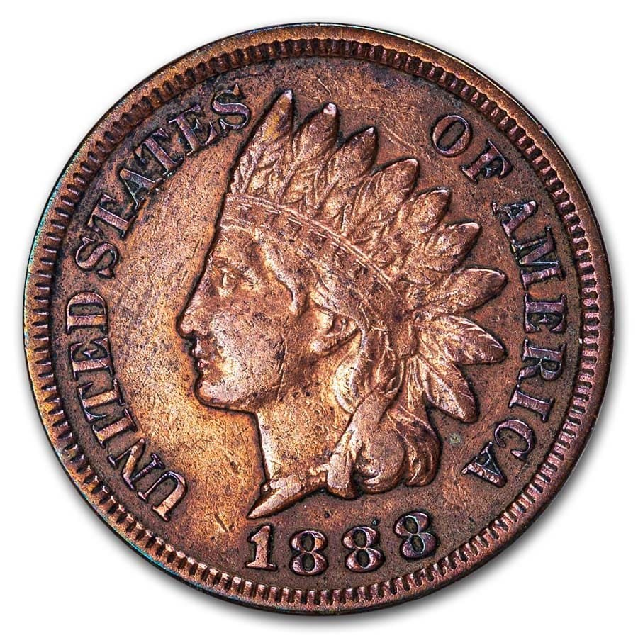 1888 Indian Head Cent XF (Cleaned, Corroded or Dmgd)