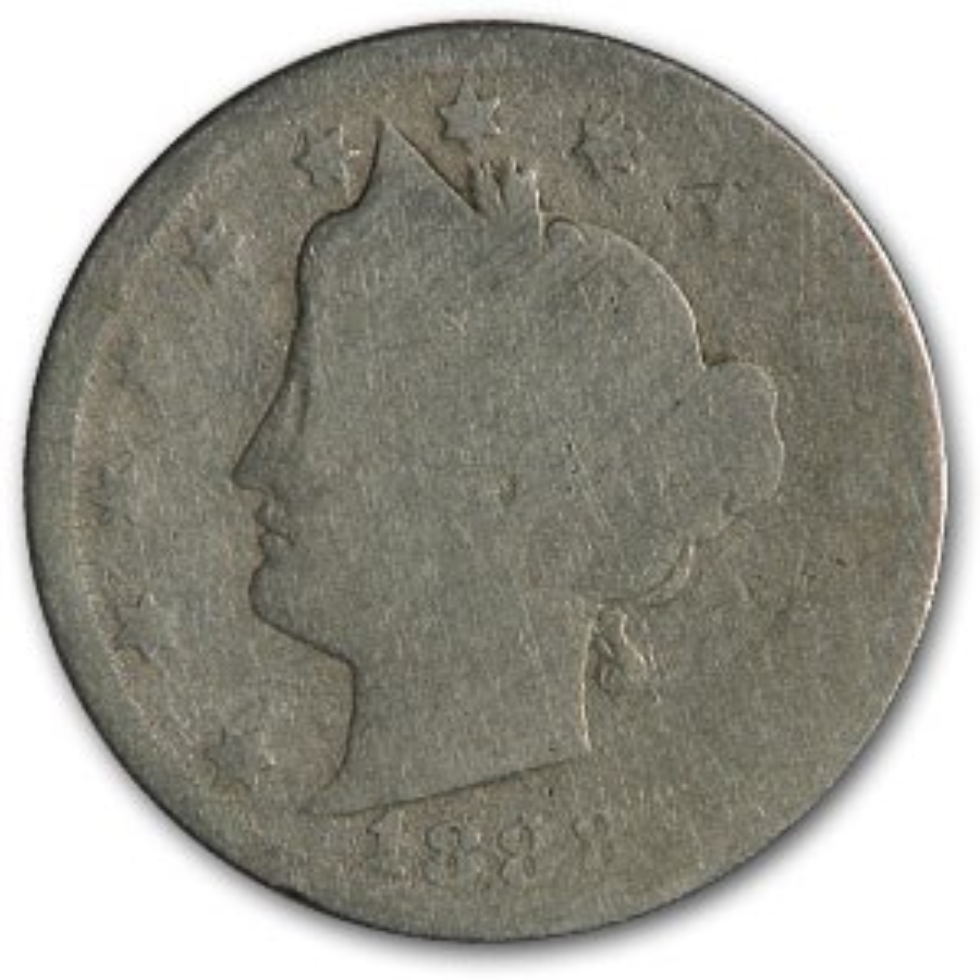 1888 Liberty Head V Nickel AG