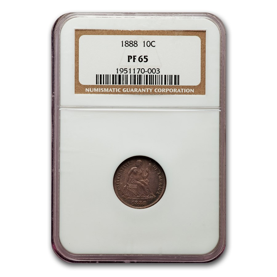1888 Liberty Seated Dime PF-65 NGC
