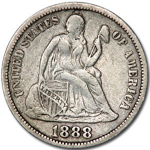 1888 Liberty Seated Dime VF