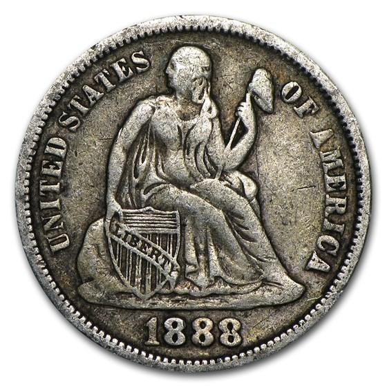 1888 Liberty Seated Dime XF