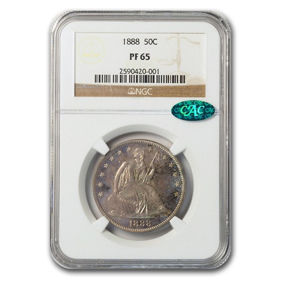 1888 Liberty Seated Half Dollar PF-66+ NGC