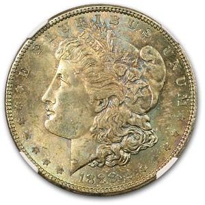 1888 Morgan Dollar MS-63 NGC (Obverse Toning)