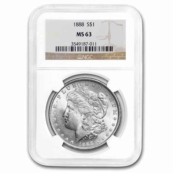 1888 Morgan Dollar MS-63 NGC