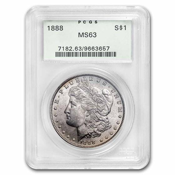 1888 Morgan Dollar MS-63 PCGS (Old Green Label)
