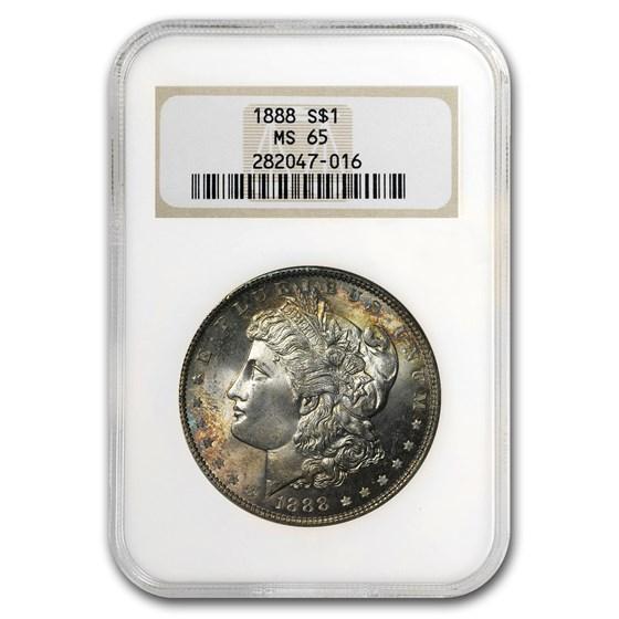 1888 Morgan Dollar MS-65 NGC (Toned Obv & Rev)