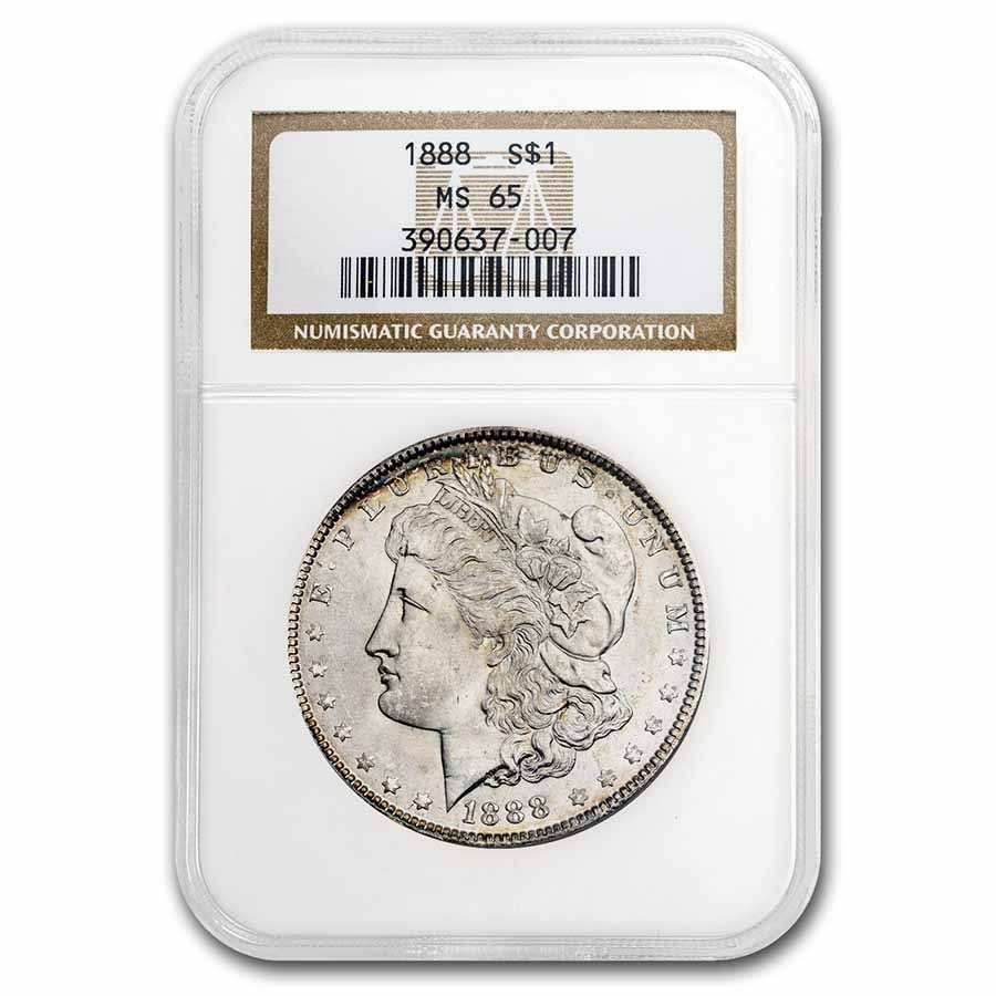 1888 Morgan Dollar MS-65 NGC