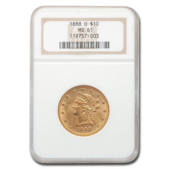 1888-O $10 Liberty Gold Eagle MS-61 NGC