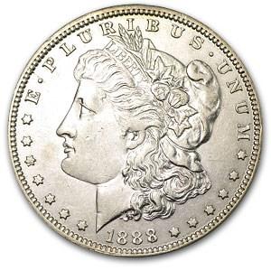 1888-O Morgan Dollar AU-58 (VAM-1B-H4, Early Die State 4)