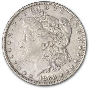 1888-O Morgan Dollar AU Dtls (VAM-7A, Shooting Star, Cleaned)