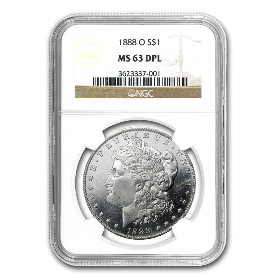 1888-O Morgan Dollar MS-63 DPL NGC (CAC)