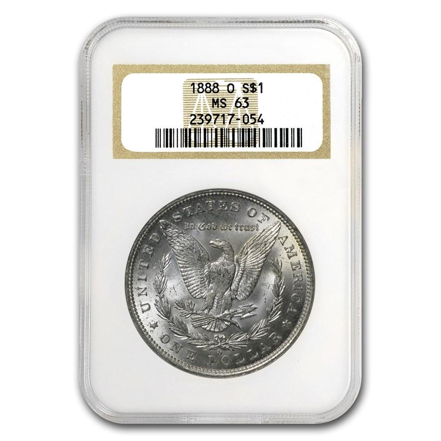 1888-O Morgan Dollar MS-63 NGC