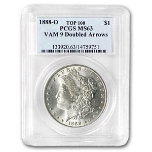1888-O Morgan Dollar MS-63 PCGS (VAM-9, Doubled Arrows, Top-100)