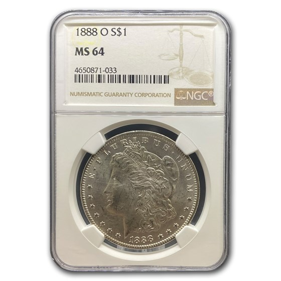 1888-O Morgan Dollar MS-64 NGC