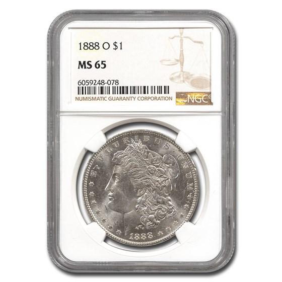 1888-O Morgan Dollar MS-65 NGC
