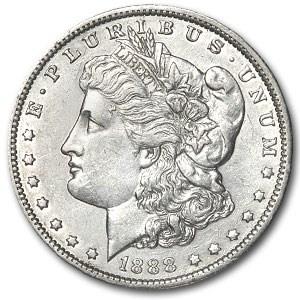 1888-O Morgan Dollar Oval O AU Details (VAM, Cleaned, Top-100)