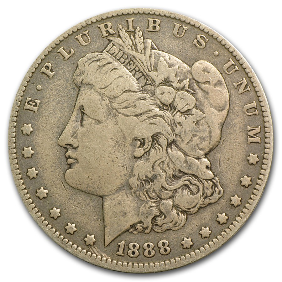 1888-O Morgan Dollar Shooting Star Fine (VAM-7A, Hit List-40)
