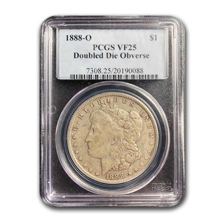 1888-O Morgan Dollar VF-25 PCGS (Doubled Die Obverse)