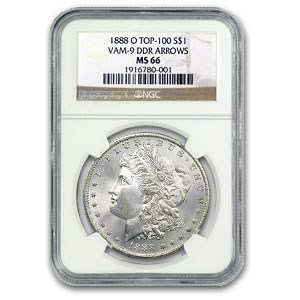 1888-O MS-66 NGC (VAM-9, Doubled Arrows, Top-100)