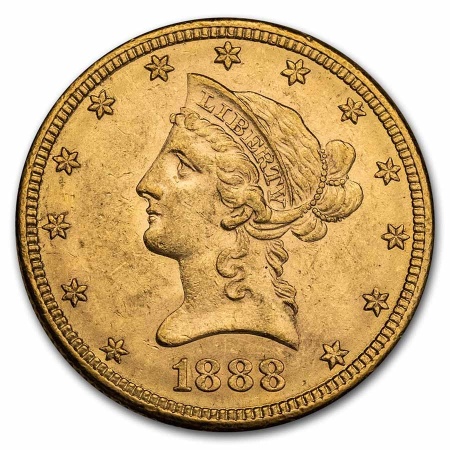 1888-S $10 Liberty Gold Eagle AU