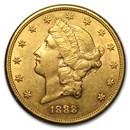 1888-S $20 Liberty Gold Double Eagle AU