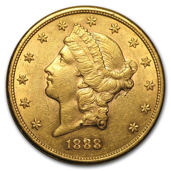 1888-S $20 Liberty Gold Double Eagle AU