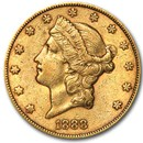 1888-S $20 Liberty Gold Double Eagle XF