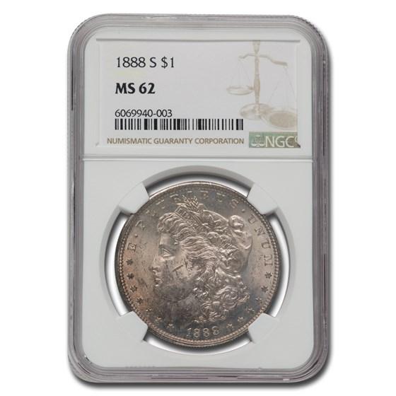 1888-S Morgan Dollar MS-62 NGC